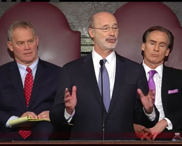 Gov. Wolf at podium