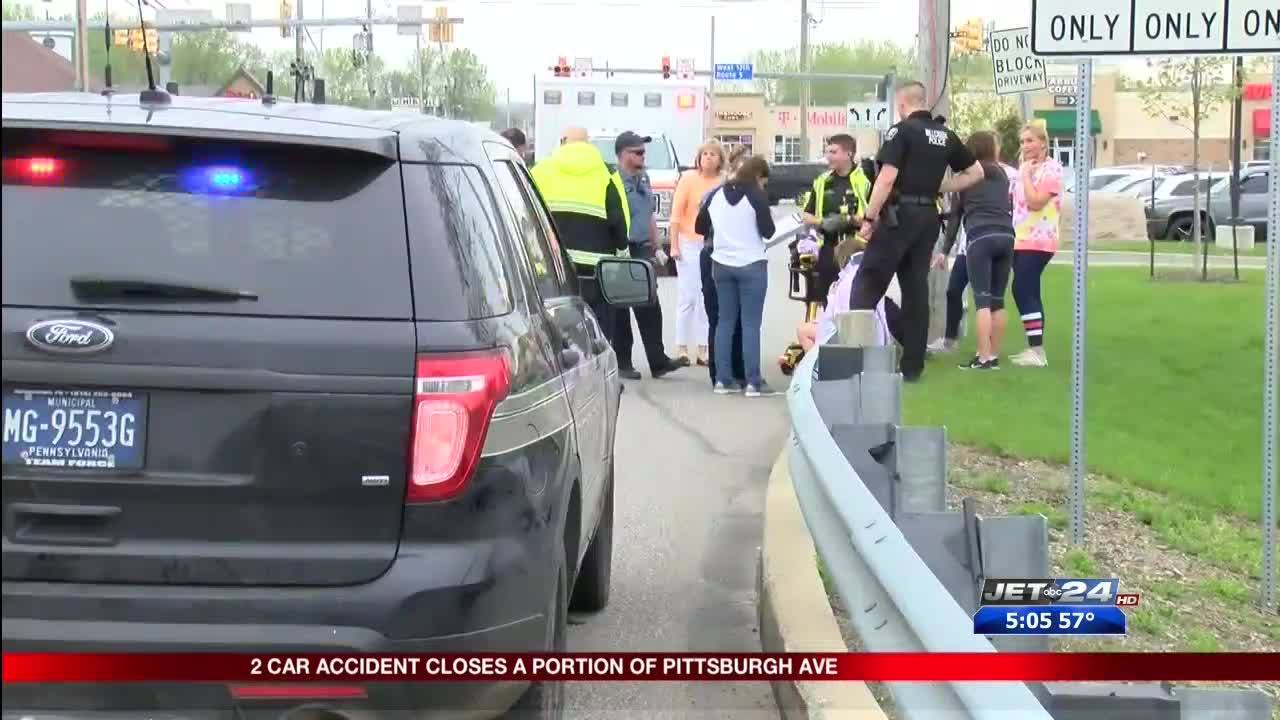 Drivers walk away uninjured following two-car accident on Pittsburgh Ave
