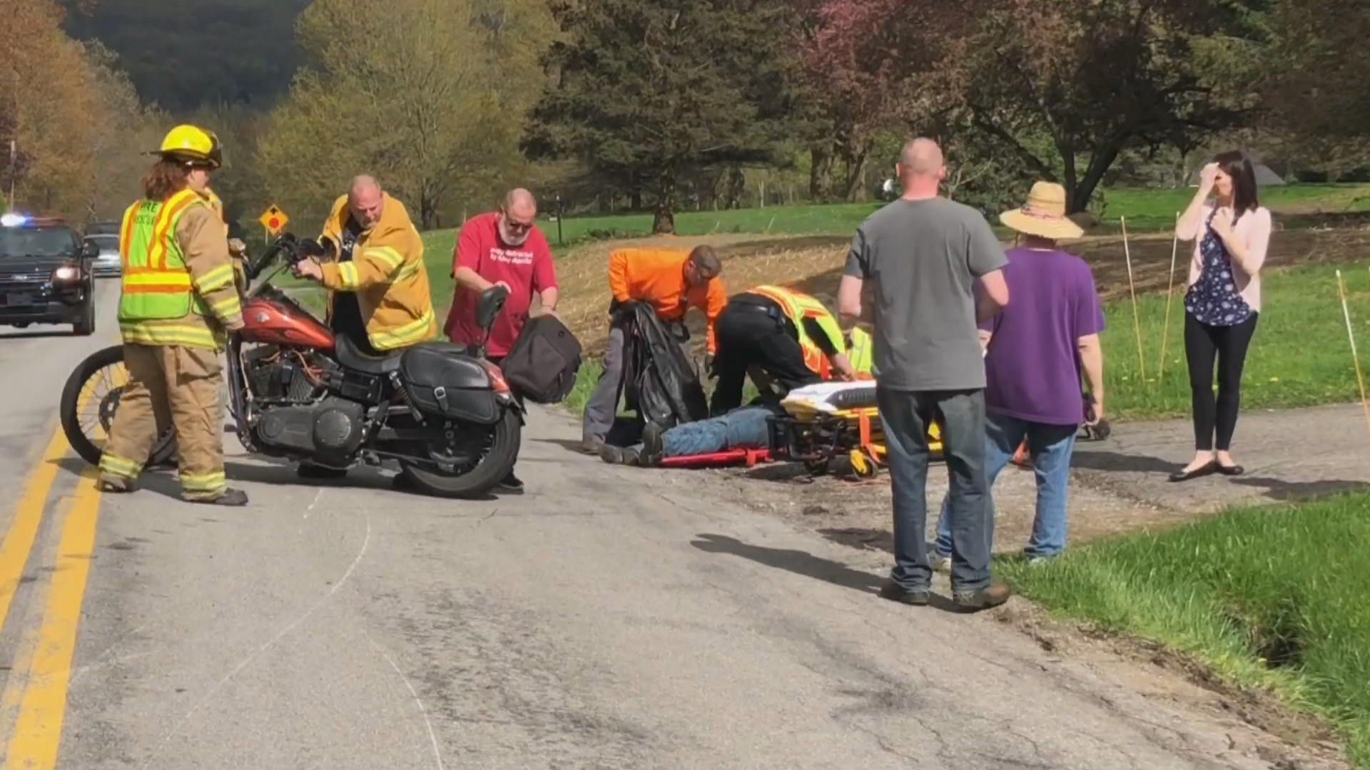 One person injured in motorcycle accident