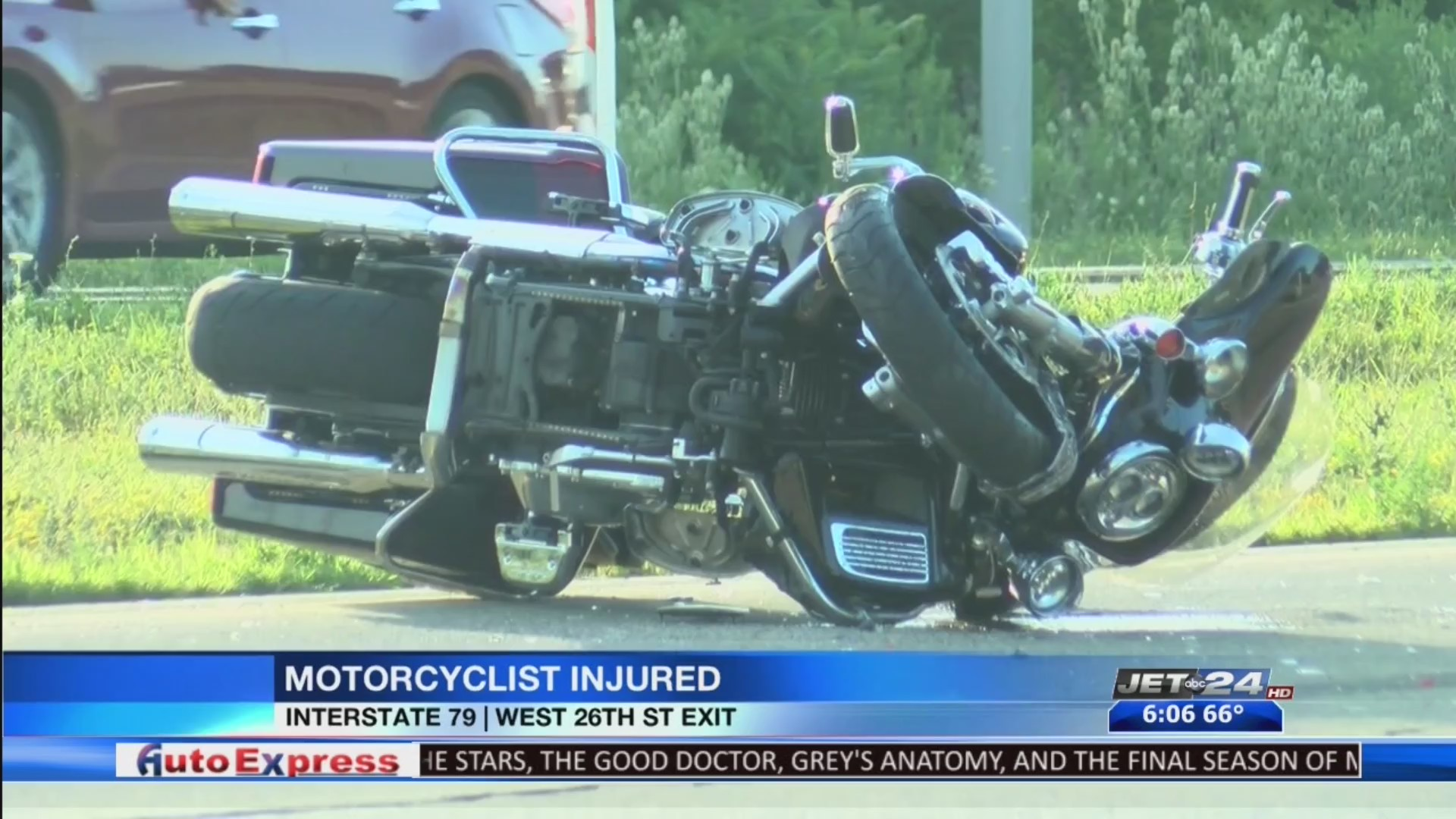 Motorcyclist sent to hospital after accident on I-79 | WJET