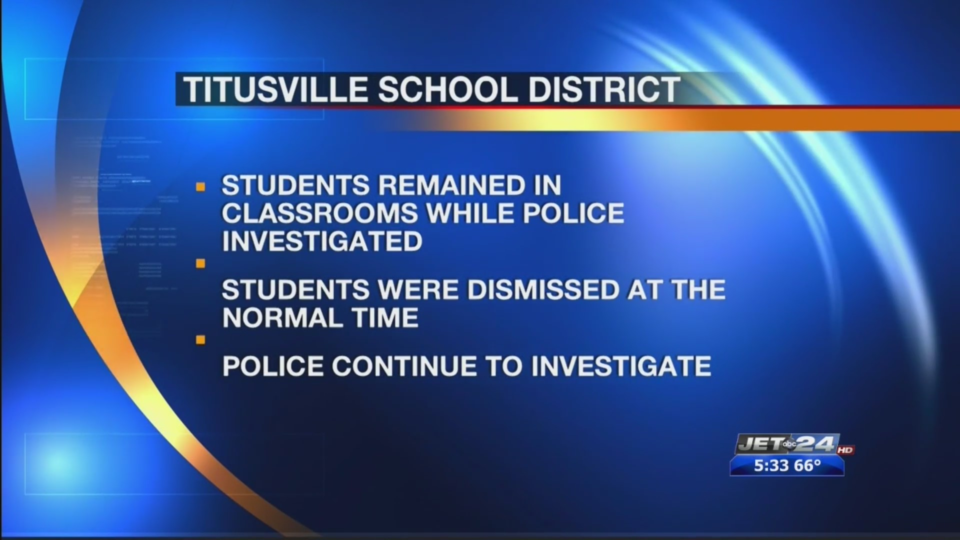 Titusville Area Schools placed on soft lockdown, which has since