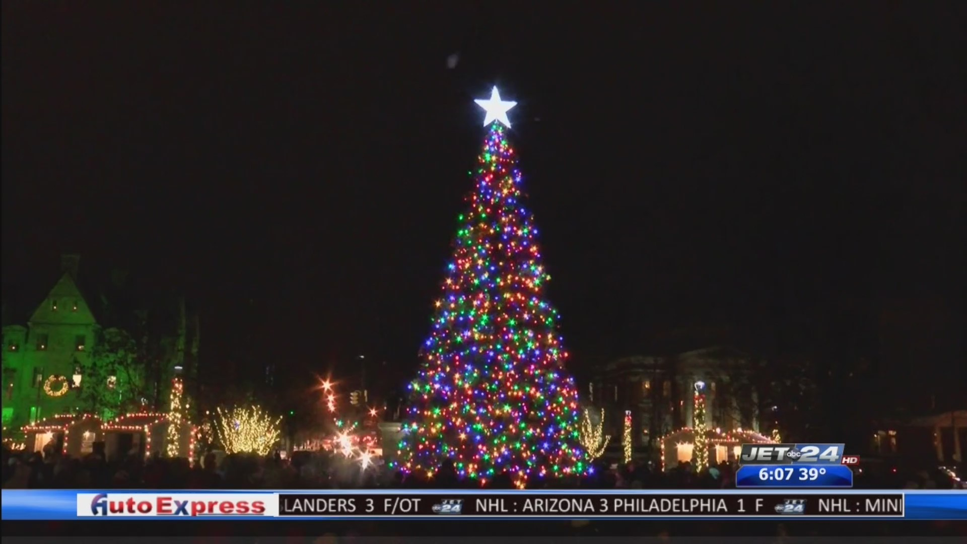 Perry Square Erie Pa 2020 Christmas Lighting Downtown d'Lights taking place in Perry Square Friday evening