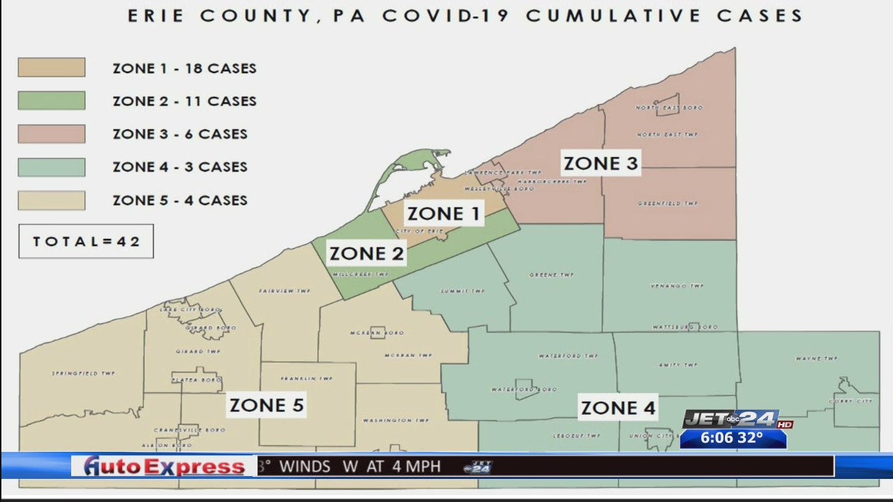 A Look At Wednesday S Covid 19 Numbers In Erie County And Surrounding Areas Wjet Wfxp Yourerie Com