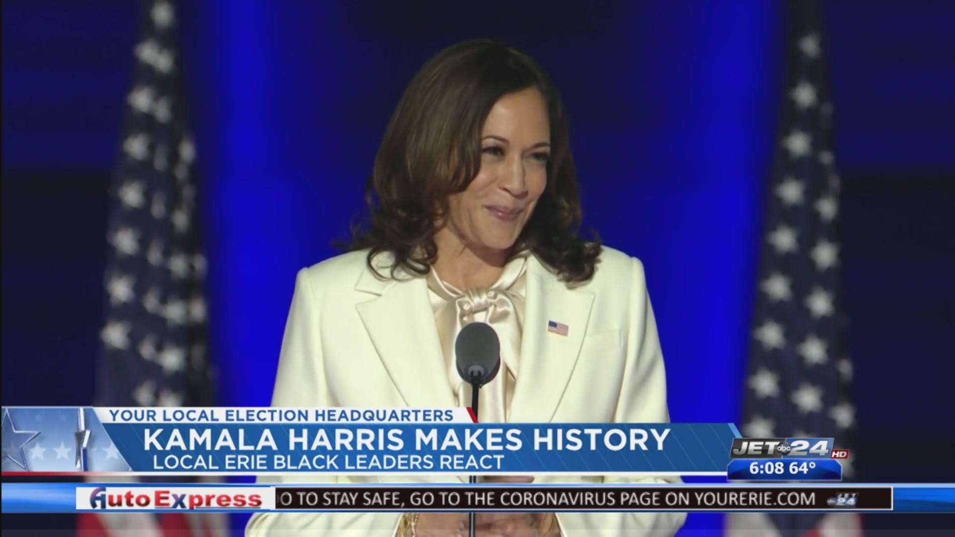 Local Leaders React To Kamala Harris Making History As The First Woman To Be Named Vice President Elect Wjet Wfxp Yourerie Com